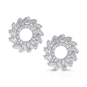 e8656 kc design gold and diamond circle earrings from the mosaic collection