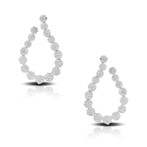 doves diamond fashion collection 18k white gold diamond earring E8664