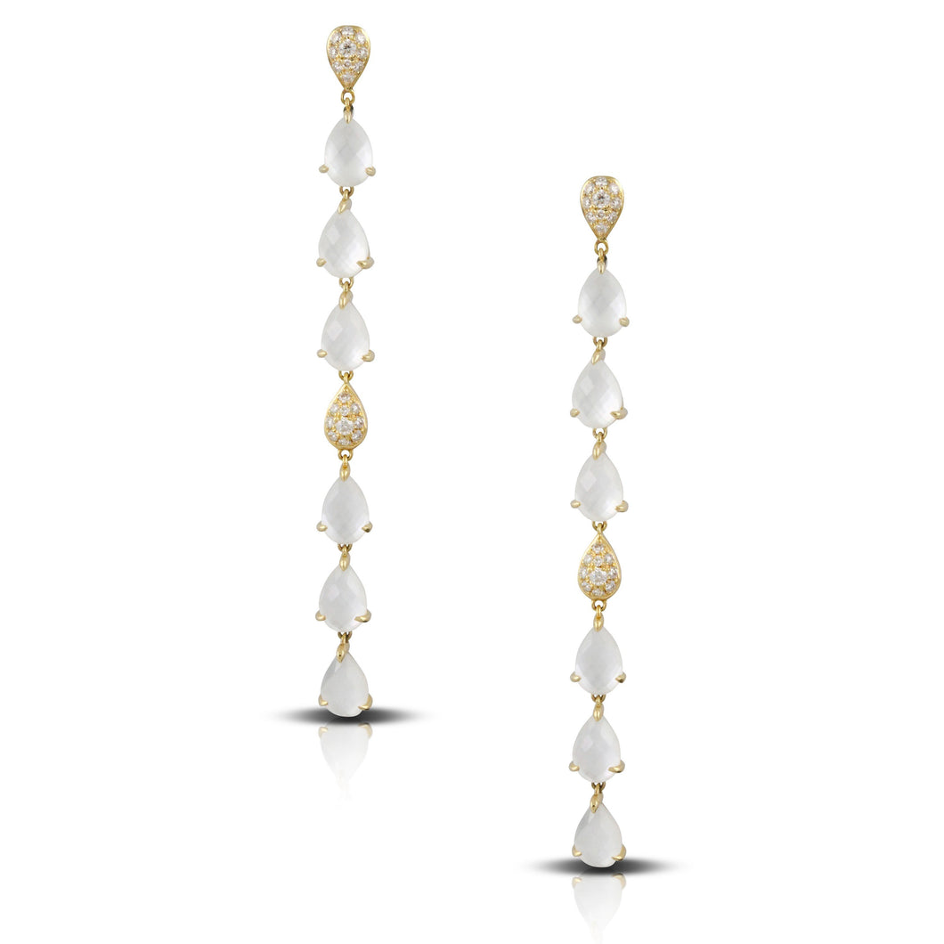 doves white orchid collection 18k yellow gold diamond earring E8665WMP