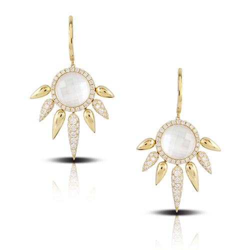 doves white orchid collection 18k yellow gold diamond earring E8666WMP