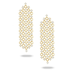 doves diamond fashion collection 18k yellow gold diamond earring E8783