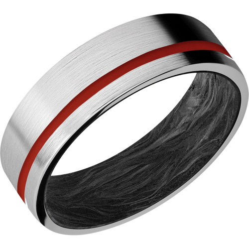 Carbon Fiber Wedding Band With Satin Finish