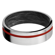 Load image into Gallery viewer, Carbon Fiber Wedding Band With Satin Finish