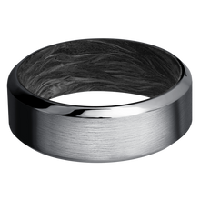 Load image into Gallery viewer, Carbon Fiber Wedding Band With Satin & Polish Finish