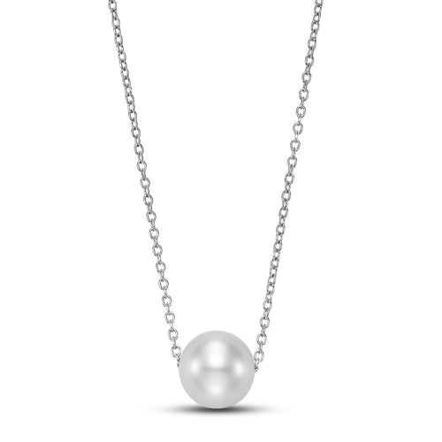 floating pearl pendant necklace