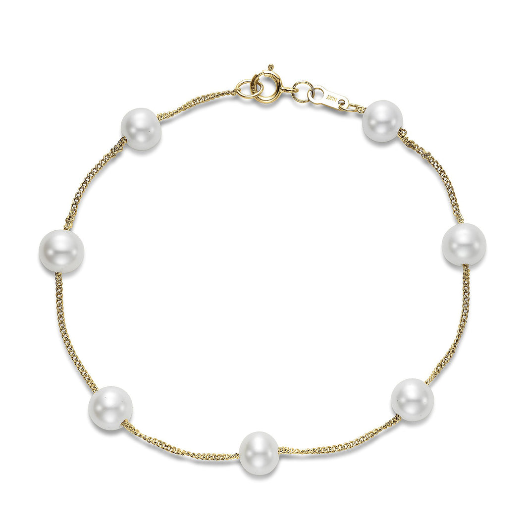 tin cup pearl bracelet