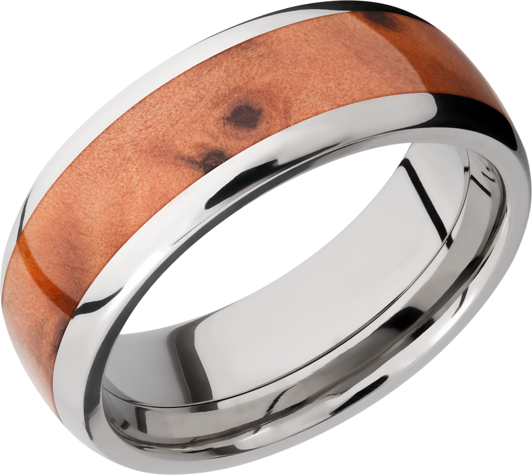 lashbrook hw titanium 8mm domed band
