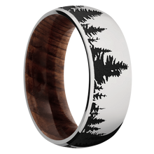 Load image into Gallery viewer, Hardwood Wedding Band With Satin Finish