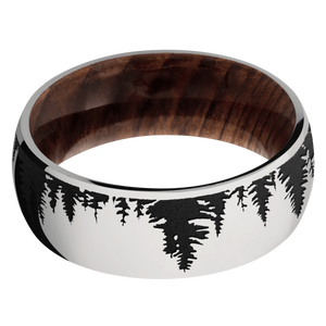 Hardwood Wedding Band With Satin Finish