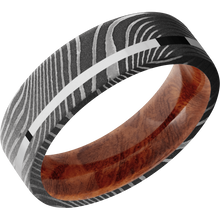 Load image into Gallery viewer, Hardwood Wedding Band With Polish & Acid Finish