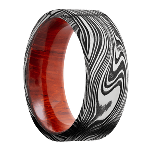 Hardwood Wedding Band With Acid Finish