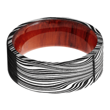 Load image into Gallery viewer, Hardwood Wedding Band With Acid Finish