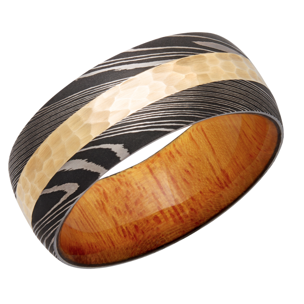 lashbrook hw handmade 9mm damascus steel domed band