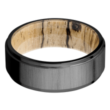 Load image into Gallery viewer, Hardwood Wedding Band With Cross Satin & Black Finish