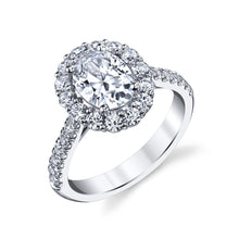 Load image into Gallery viewer, white gold halo oval engagement ring lc10433 coast diamond