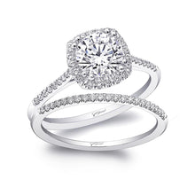 Load image into Gallery viewer, white gold halo cushion cut engagement ring lc5410 coast diamond
