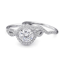 Load image into Gallery viewer, white gold halo engagement ring lc5449 coast diamond
