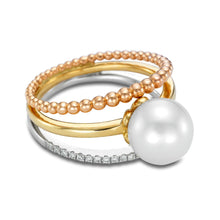 Load image into Gallery viewer, Tricolor Pearl Ring