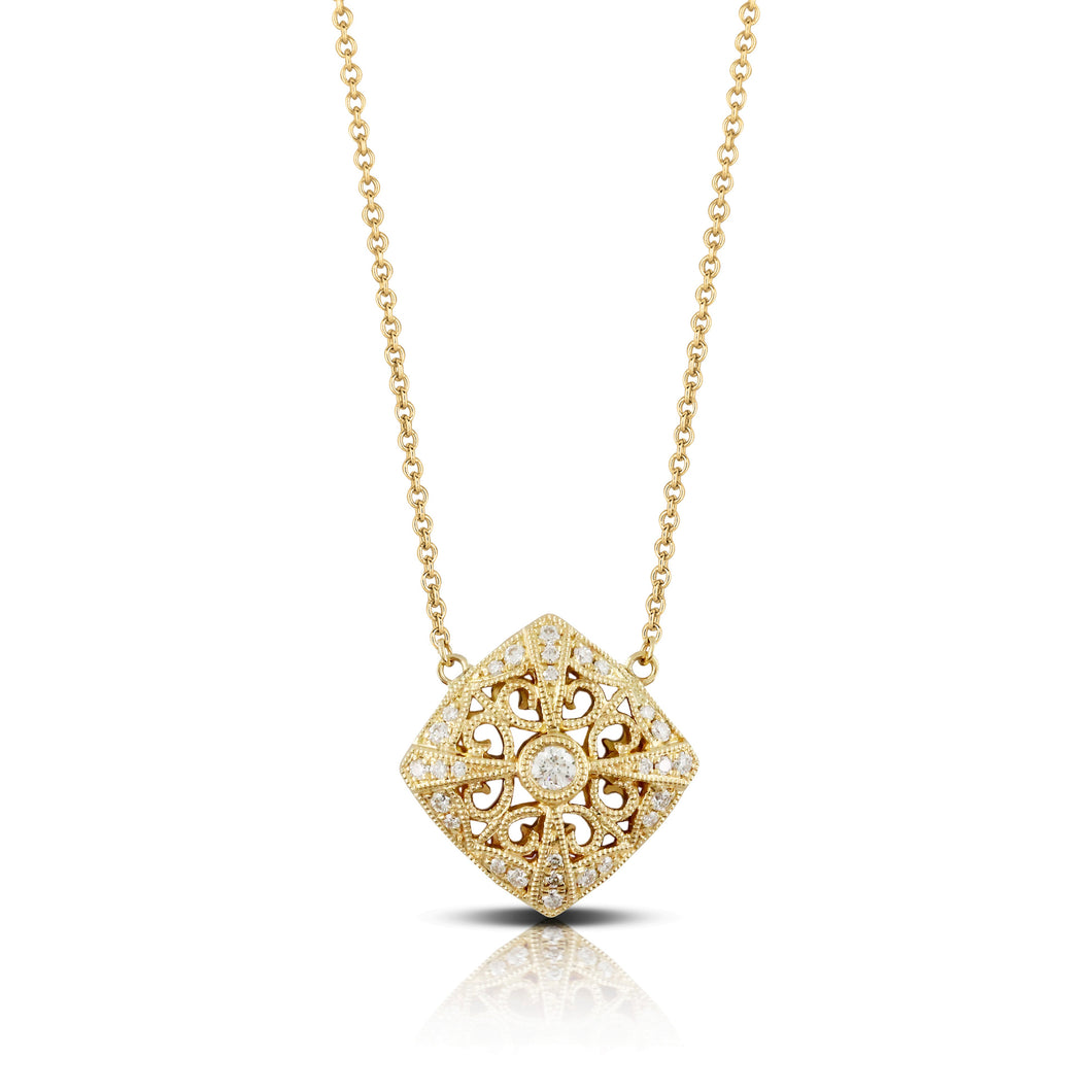 doves diamond fashion collection 18k yellow gold diamond necklace N4210