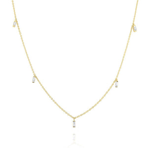 n4577 kc design hanging baguette diamond mosaic necklace set in 14 kt. gold