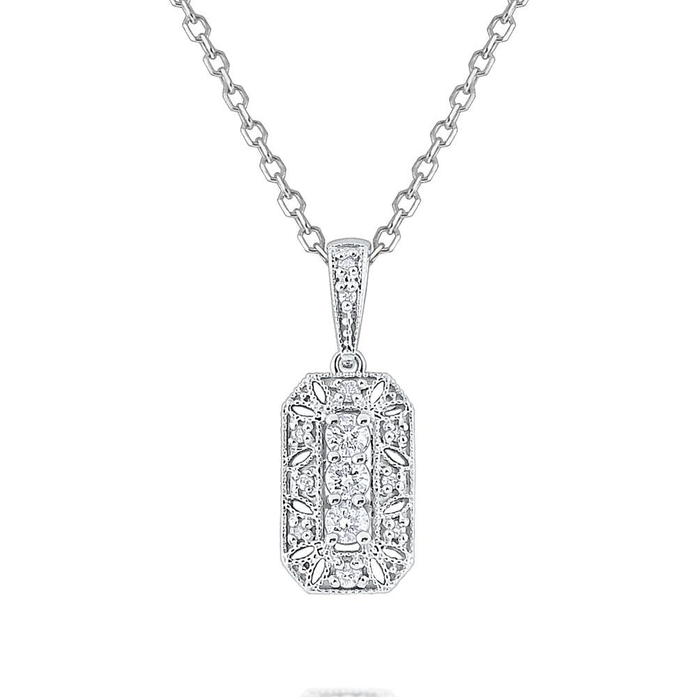 n6047 kc design diamond antique style necklace set in 14 kt. gold