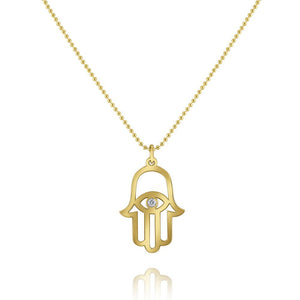 n6180 kc design diamond hamsa pendant necklace set in 14 kt. gold