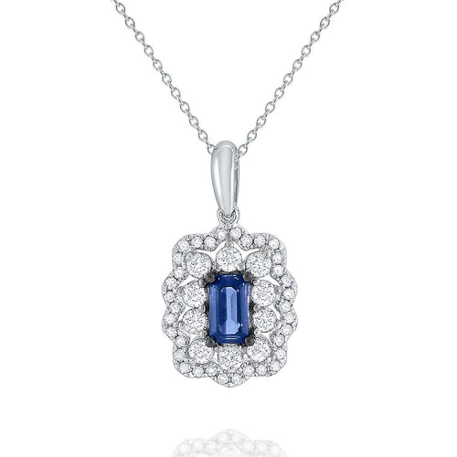 n6411 kc design sapphire & diamond pendant set in 14 kt. gold