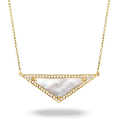 doves white orchid collection 18k yellow gold diamond necklace N7041WMP