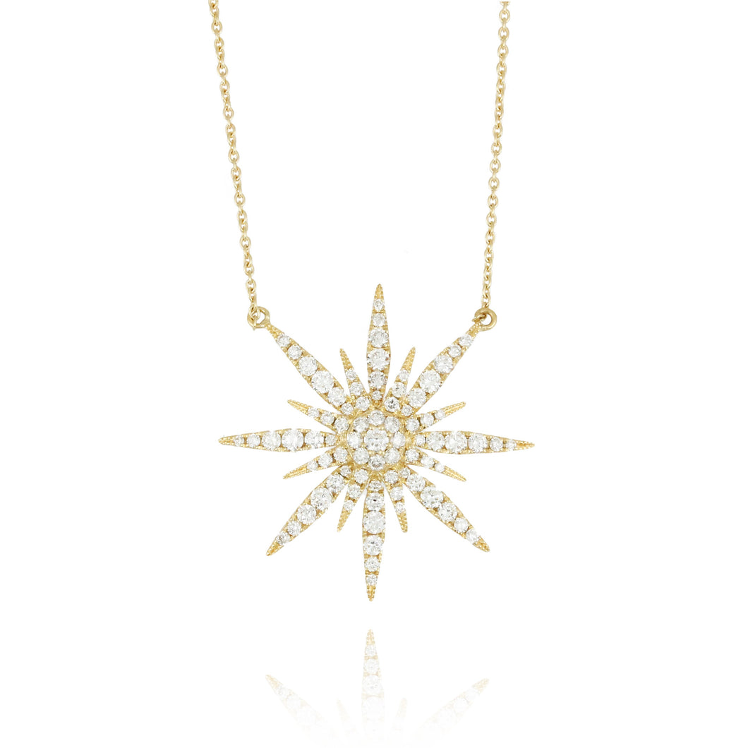 doves diamond fashion collection 18k yellow gold diamond necklace N7411