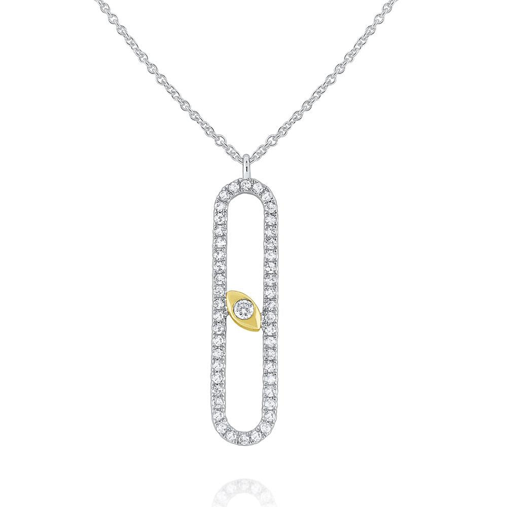 n7651 kc design 14k gold and diamond modern geometric necklace