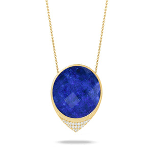 doves royal lapis collection 18k yellow gold diamond necklace N7820LP