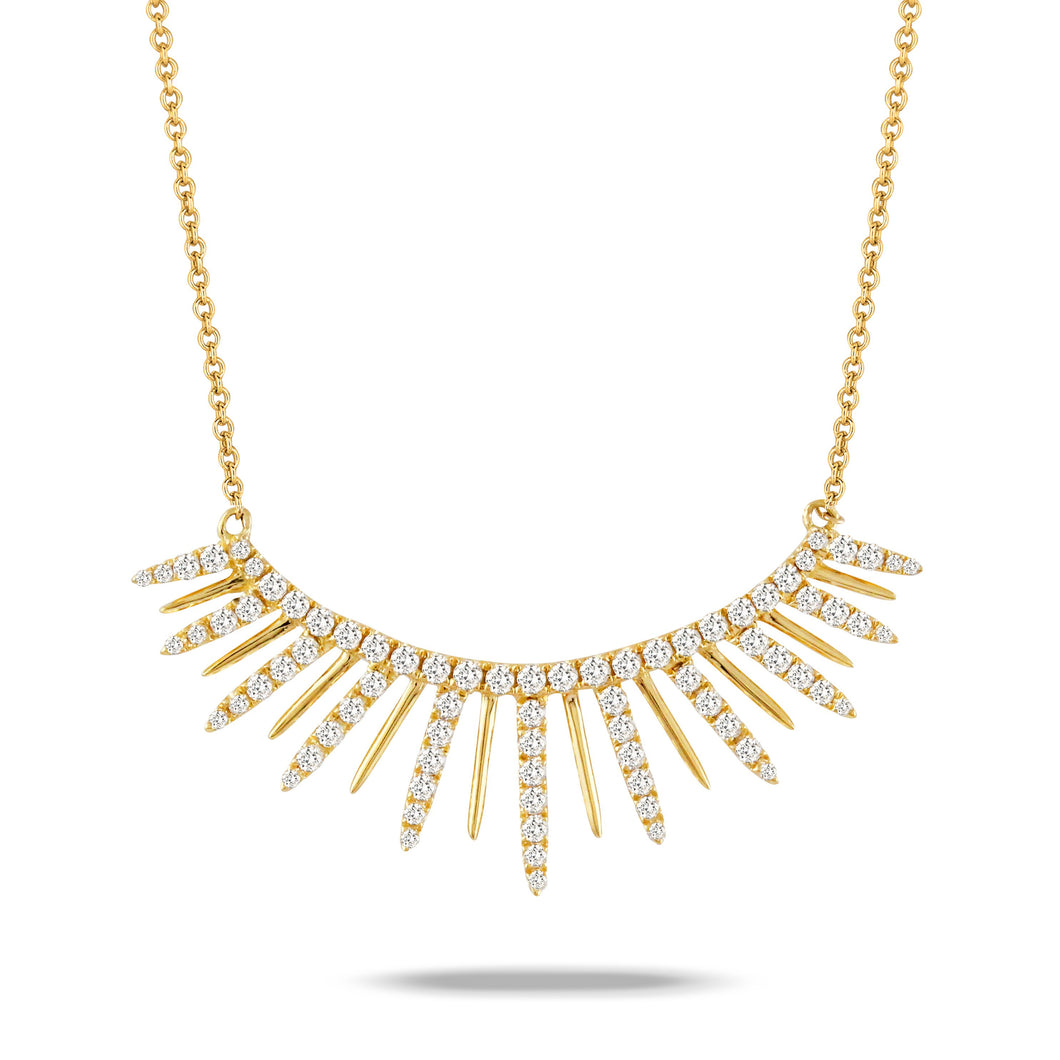doves diamond fashion collection 18k yellow gold diamond necklace N7902-1