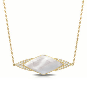 doves white orchid collection 18k yellow gold diamond necklace N8042WMP