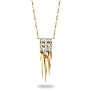 doves diamond fashion collection 18k yellow gold diamond necklace N8215