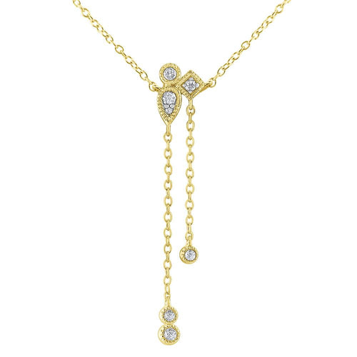 n8285 kc design gold and diamond asymmetrical chain necklace