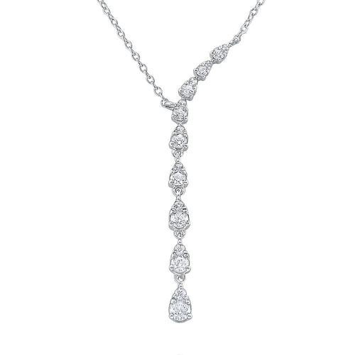 n8287 kc design 14k gold and diamond droplet necklace