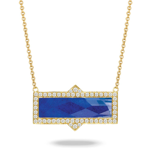 doves royal lapis collection 18k yellow gold diamond necklace N8305LP-1