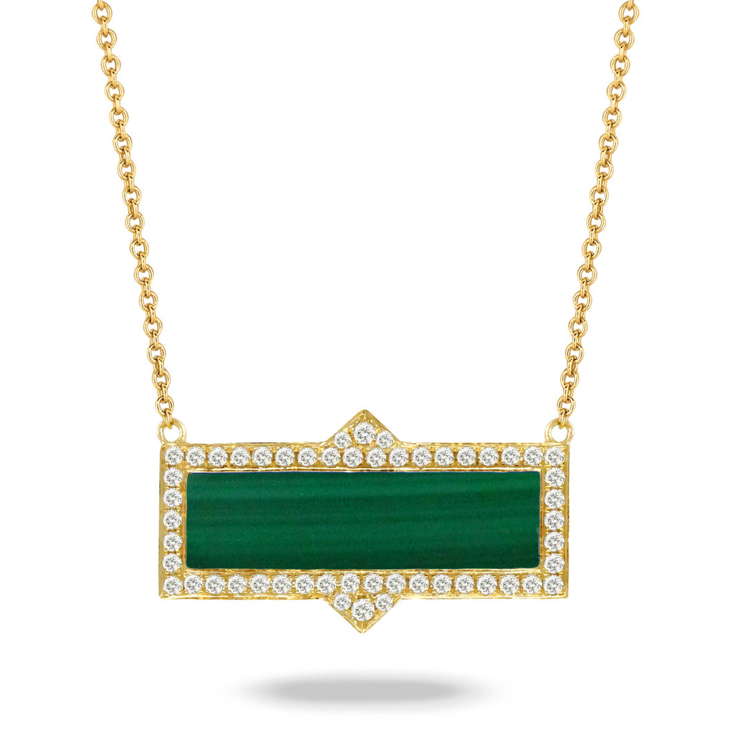 doves verde collection 18k yellow gold diamond necklace N8305MC-1
