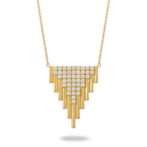 doves diamond fashion collection 18k yellow gold diamond necklace N8545