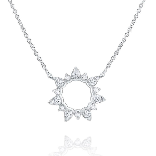 n8601 kc design 14k gold and diamond open starburst necklace