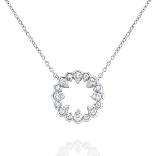 n8603 kc design 14k gold and diamond floral openwork necklace