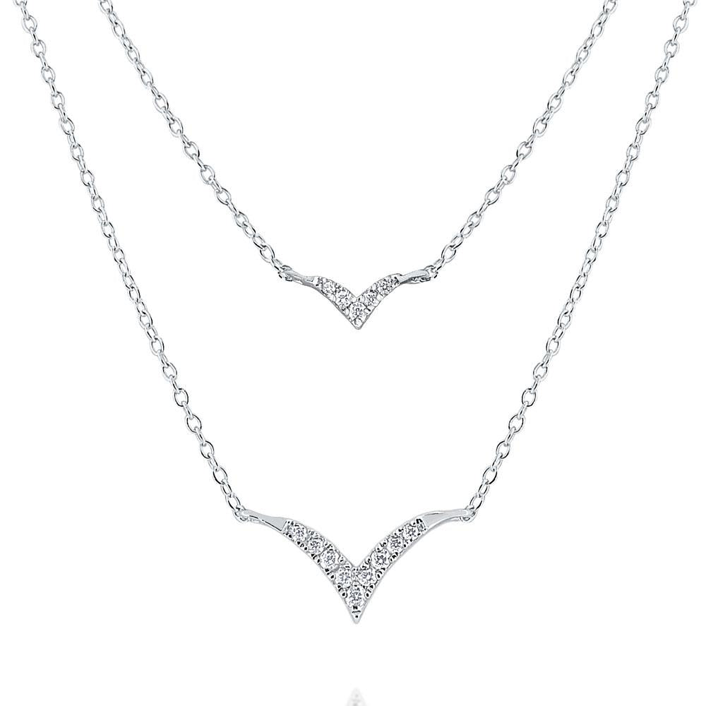 n8609 kc design 14k gold and diamond bird layer necklace