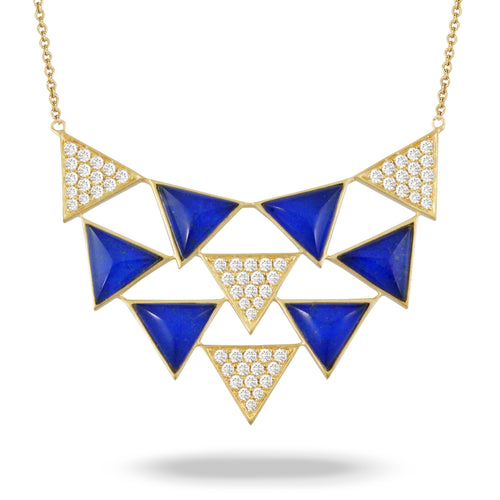doves royal lapis collection 18k yellow gold diamond necklace N8667LP