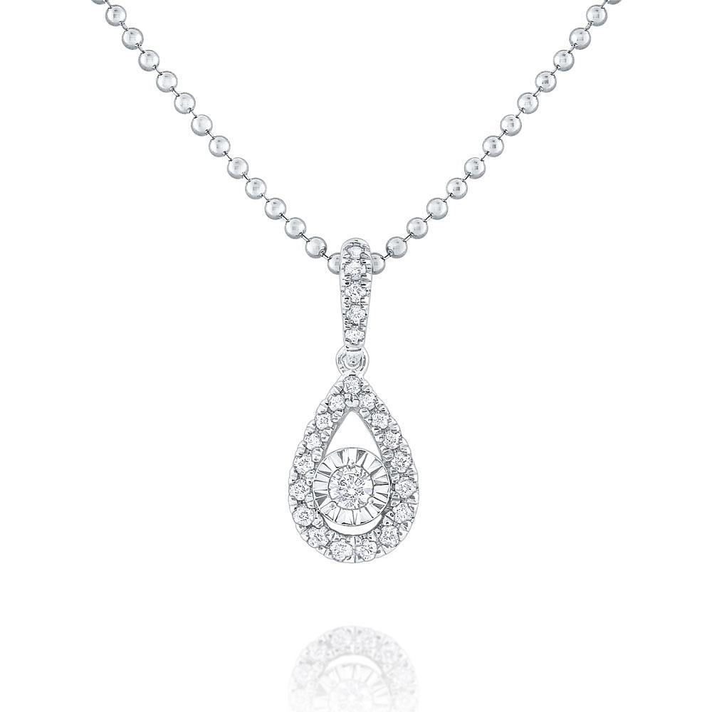 n8683 kc design gold and diamond teardrop necklace
