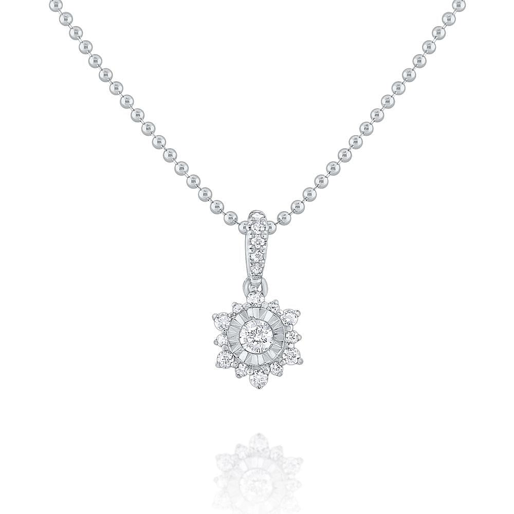 n8685 kc design gold and diamond cluster necklace
