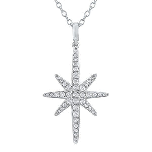 n8701 kc design 14k gold and diamond starburst necklace