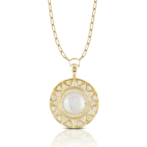 doves white orchid collection 18k yellow gold diamond necklace N8727WMP