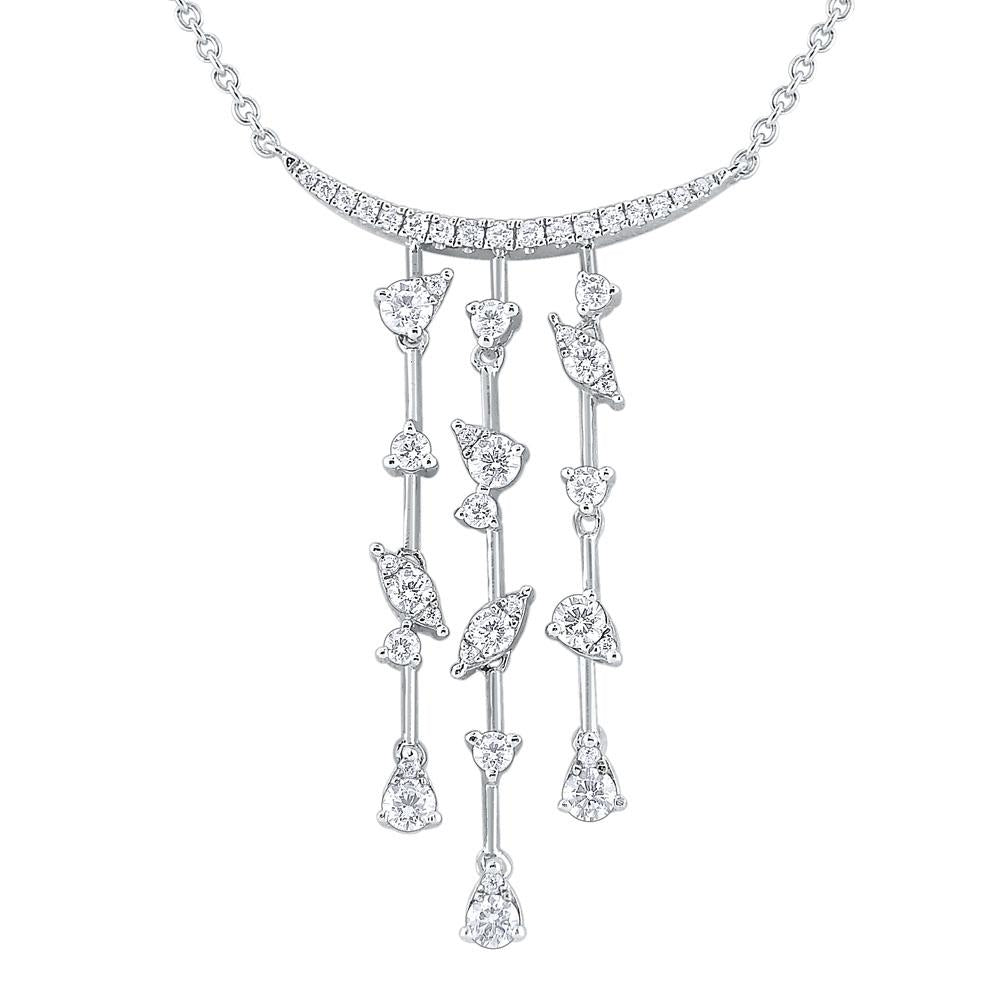 n8737 kc design 14k gold and diamond cascade necklace