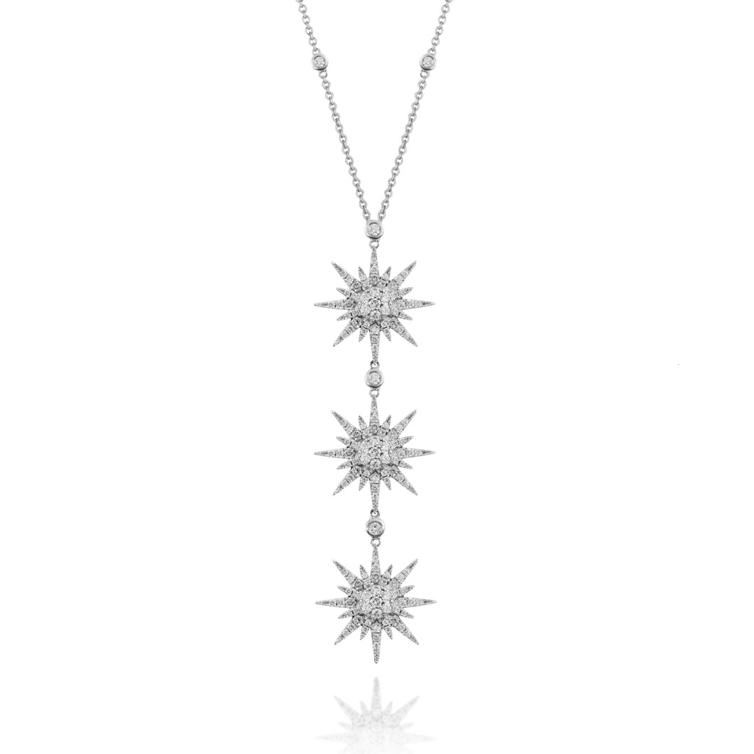 doves diamond fashion collection 18k white gold diamond necklace N8855