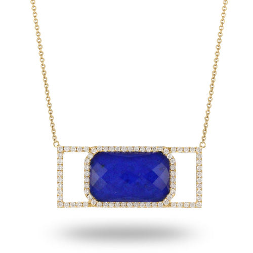 doves royal lapis collection 18k yellow gold diamond necklace N8966LP